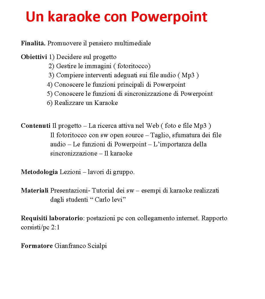 Un Karaoke con Powerpoint
