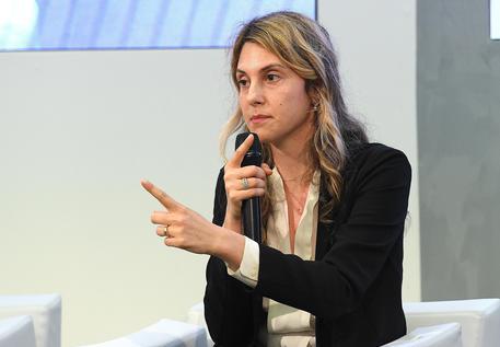 Il ministro della Pubblica amministrazione, Marianna Madia, interviene al convegno dei Giovani imprenditori di Confindustria, Santa Margherita Ligure (Genova), 10 giugno 2016. ANSA/ LUCA ZENNARO