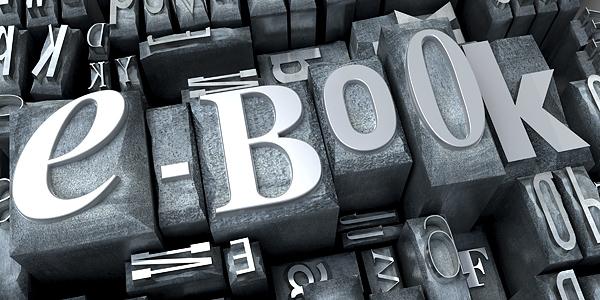 e-book in typescript close-up